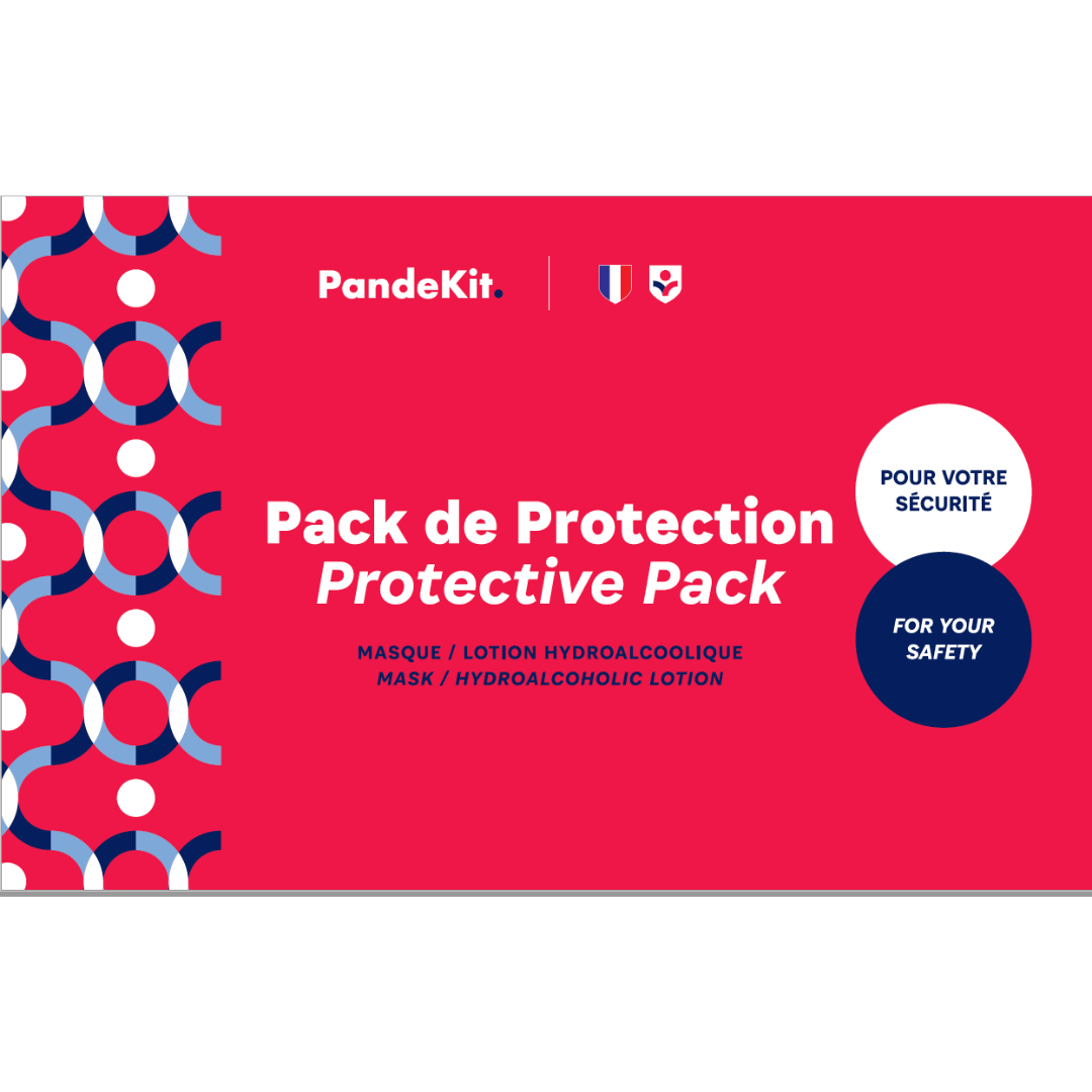 Lot de 100 Packs Individuels de Protection contenant Masque + Lotion - Grande Remise
