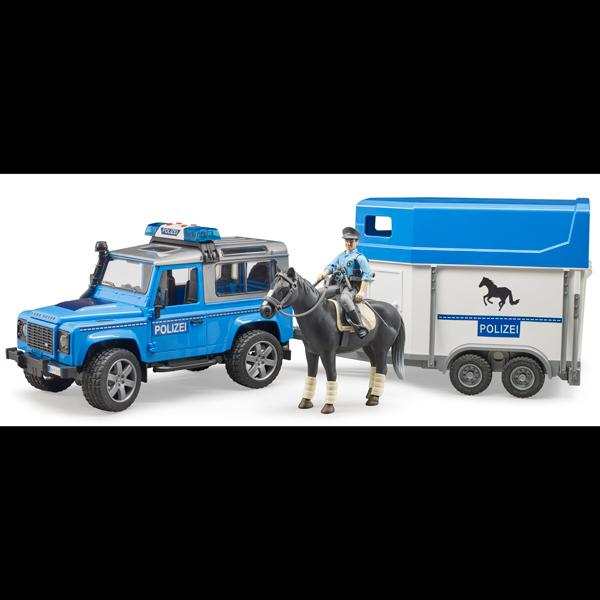 Bruder Police Vehicle with Horse Trailer & Officer