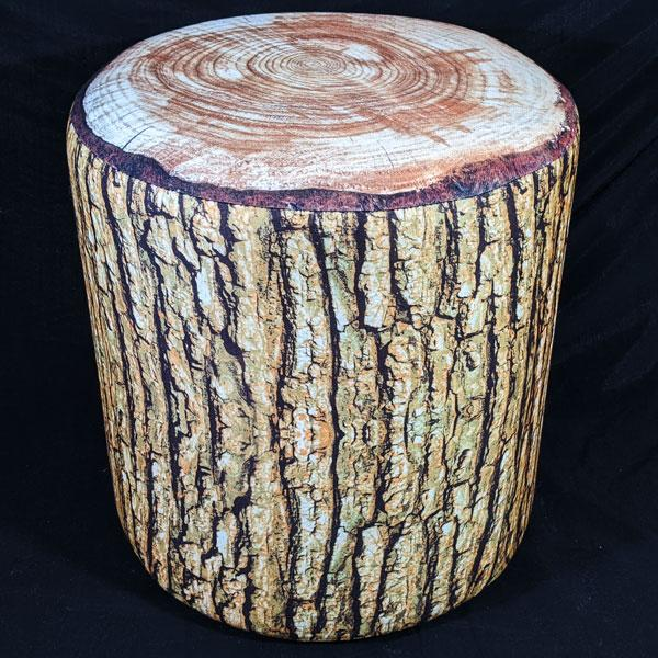 Cabin Fever Log Stool (Cushioned)