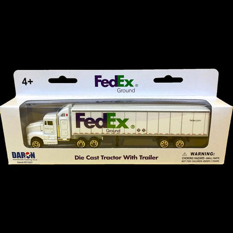 FedEx Die Cast Tractor with Trailer