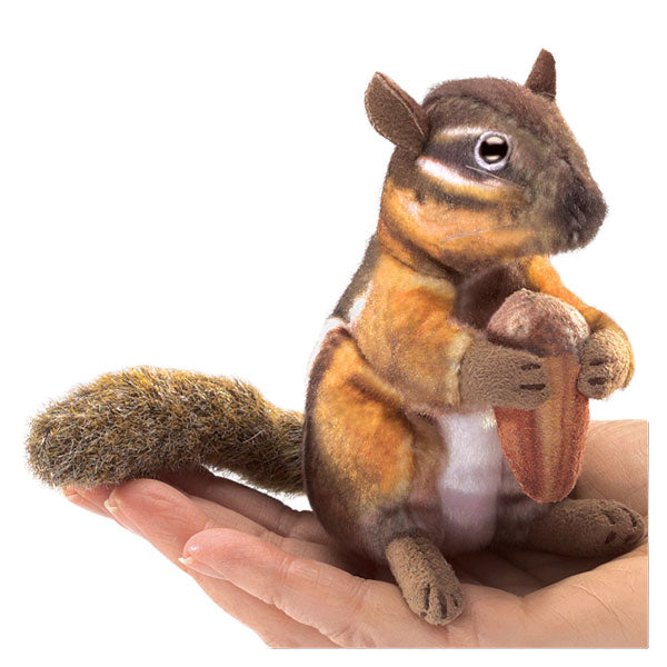 Mini Chipmunk w/Acorn Finger Puppet