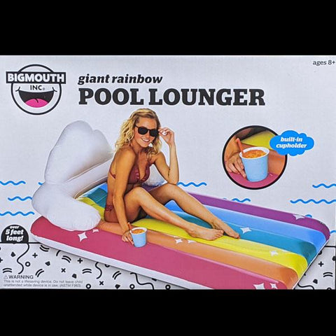 Giant Rainbow Pool Lounger