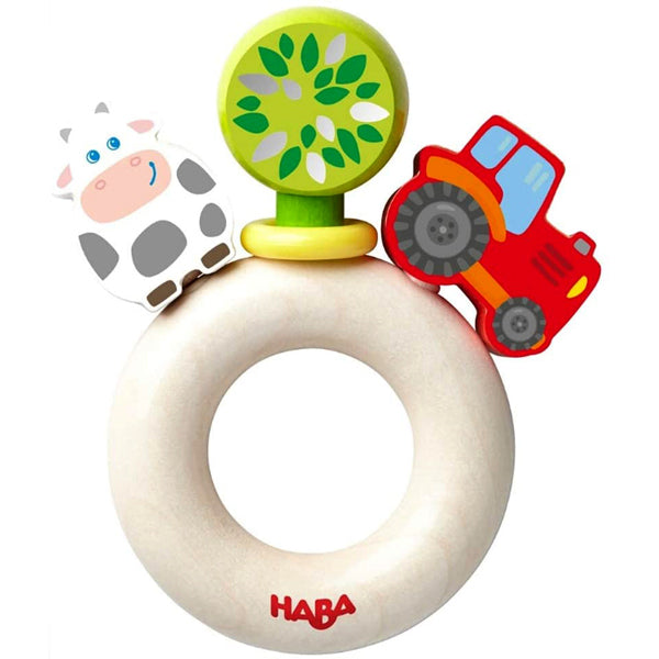 HABA Farm World Clutching Toy (6mo+)