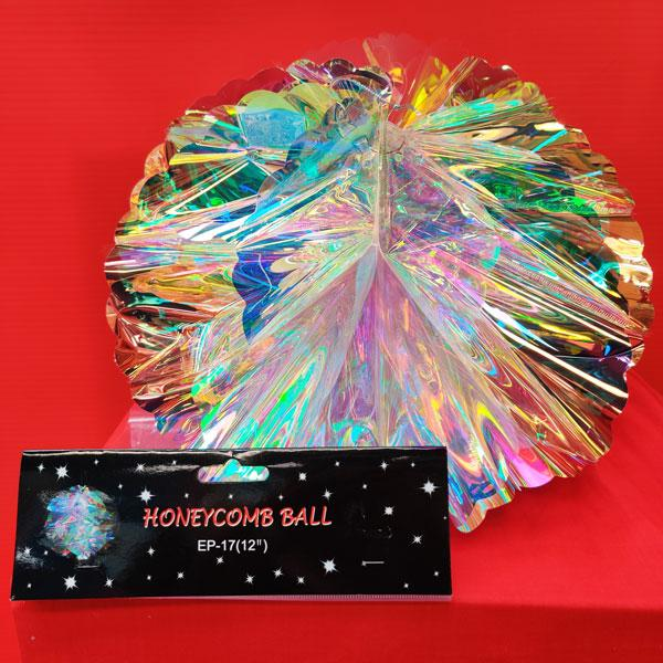 Iridescent Honeycomb Ball