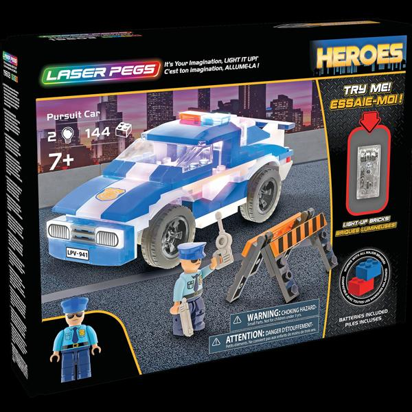 Laser Pegs Pursuit Car Build Kit
