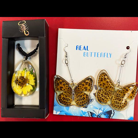 Leopard Spotted Bug Jewelry Set