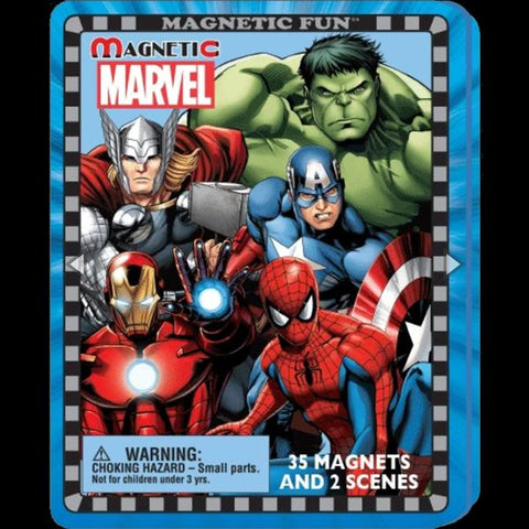 Marvel Travel Magnetic Play Tin