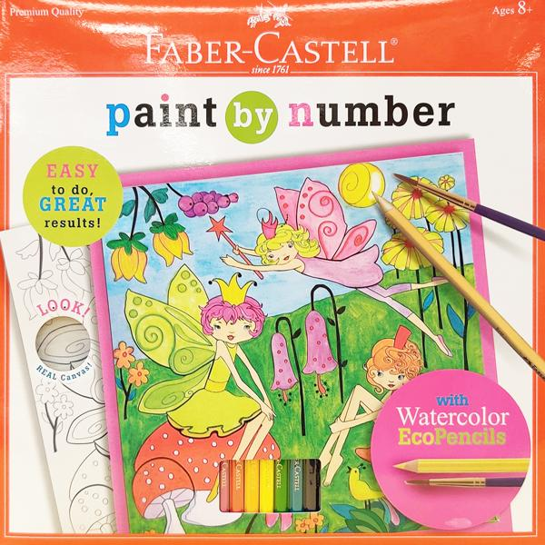 Paint By Number Fairy Garden w/ Watercolors