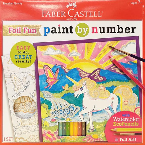 Paint By Number Foil Fun Unicorns