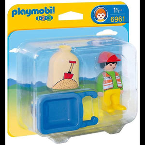 Playmobil 123 Worker with Wheelbarrow