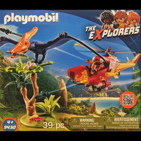 Playmobil Adventure Copter W/ Pterodactyl