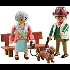Playmobil Grandparents with Dog