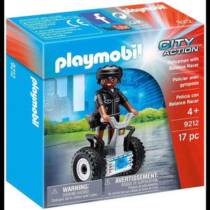 Playmobil Police Officer with Balance Racer