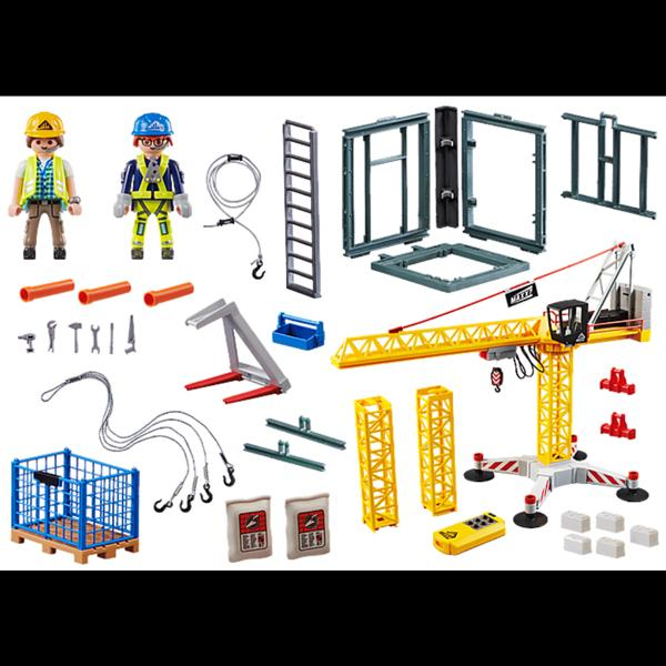 Playmobil RC Crane with Building