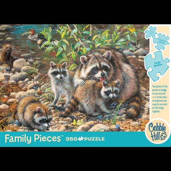 Raccoon Family Puzzle (350pc)