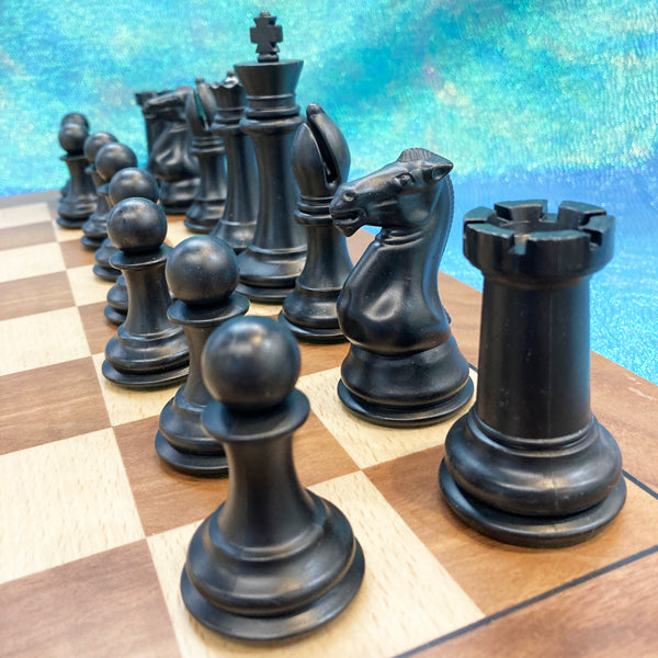 Wooden Chess Board & Triple Weighted Pieces Set