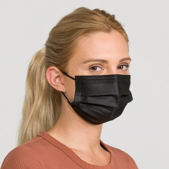 Black Disposable Masks