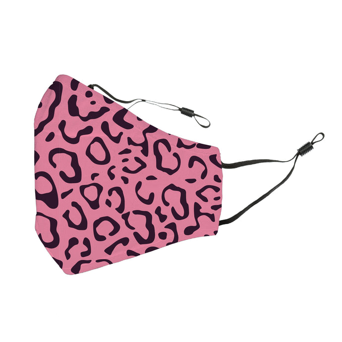 Reusable Face Cover Cheetah Pink