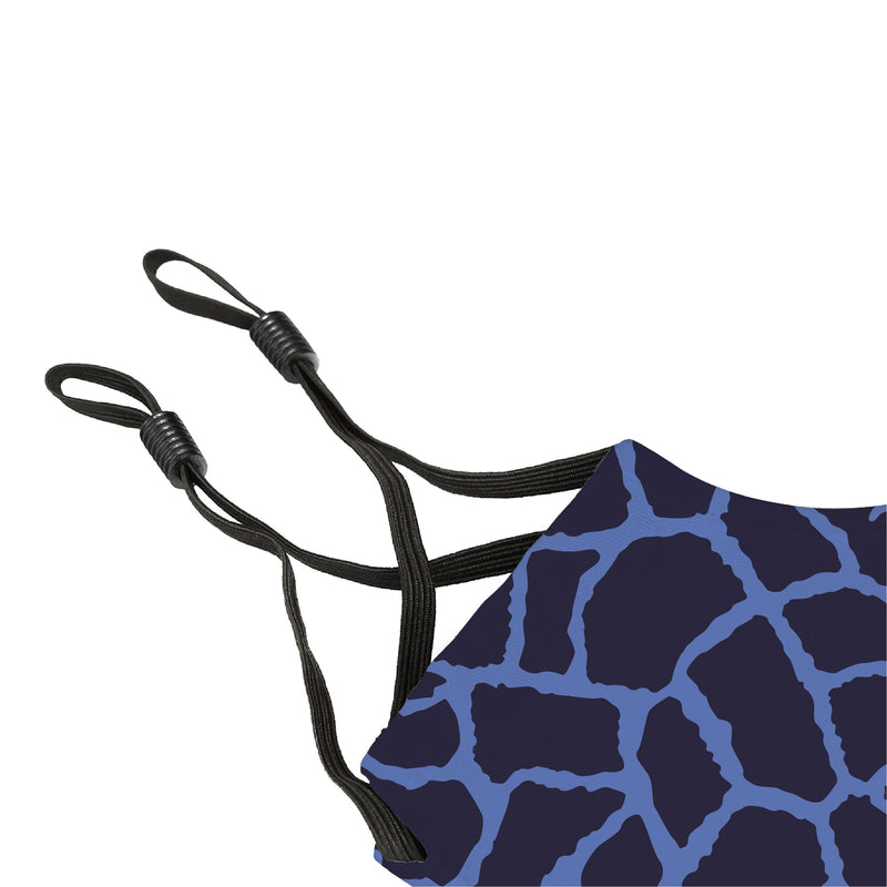 Reusable Face Cover Giraffe Blue