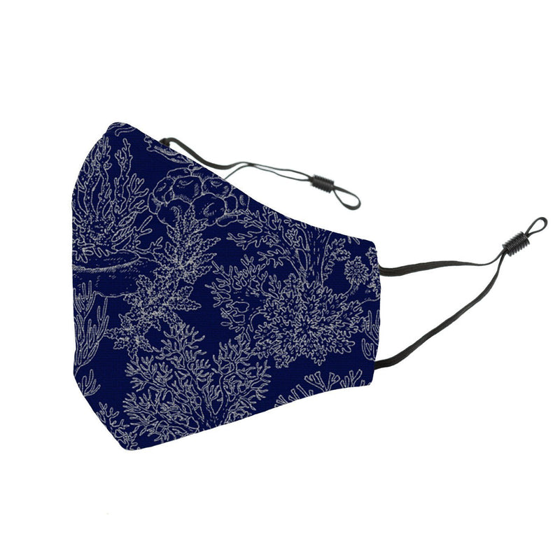 Reusable Face Cover Coral Blue