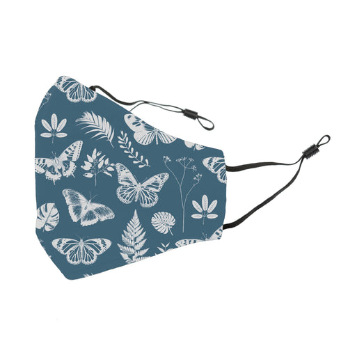 Reusable Face Cover Botanical Blue