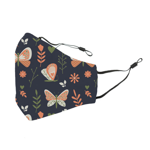 Reusable Face Cover Lovebug Navy
