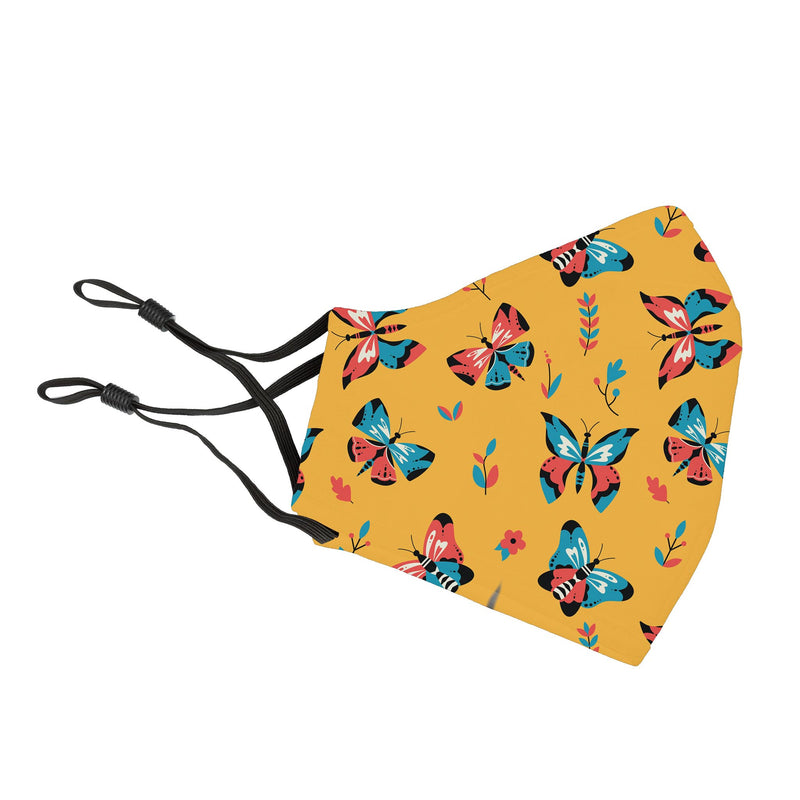 Reusable Face Cover Flutter Yellow