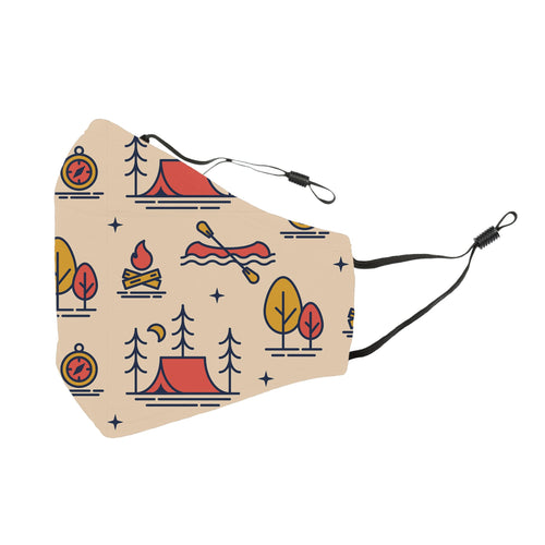 Reusable Face Cover Gone Camping Tan
