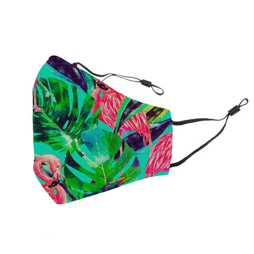 Reusable Face Cover Flamingo Tropic