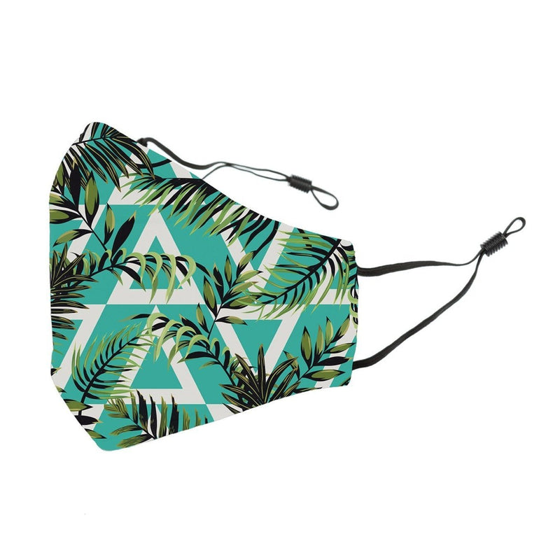Reusable Face Cover Geo Jungle Teal