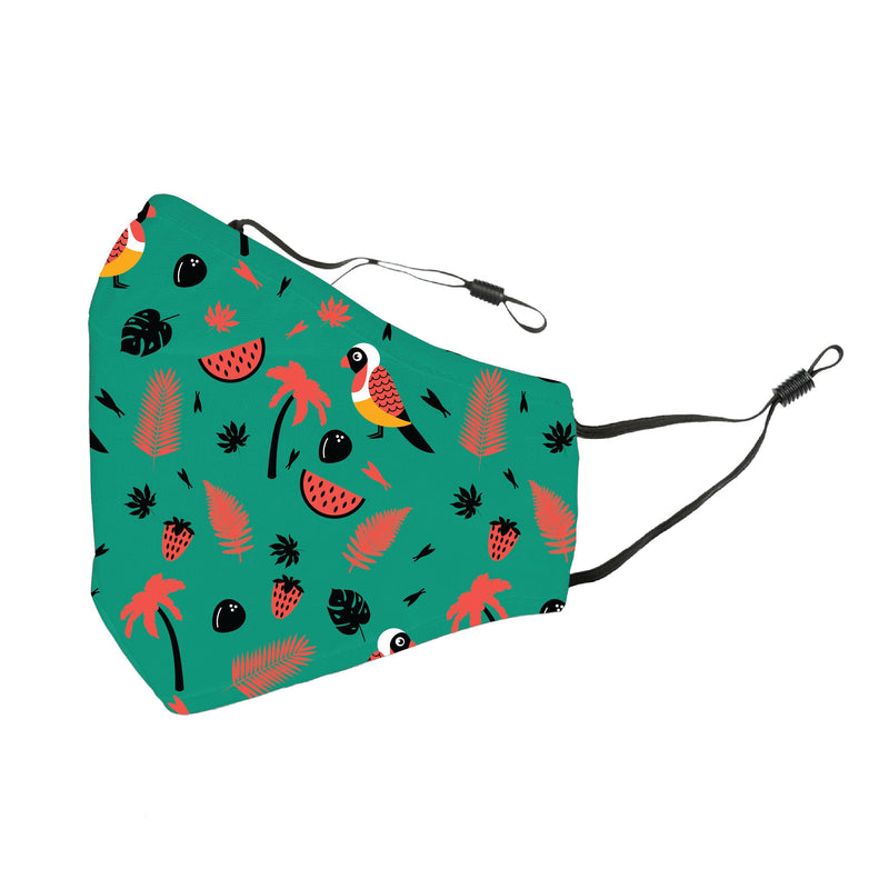 Reusable Face Cover Birds and Cherries