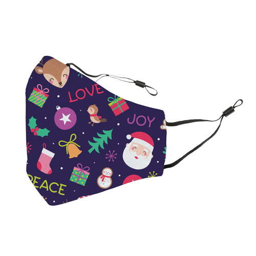 Reusable Face Cover Christmas Peace, Love and Joy!