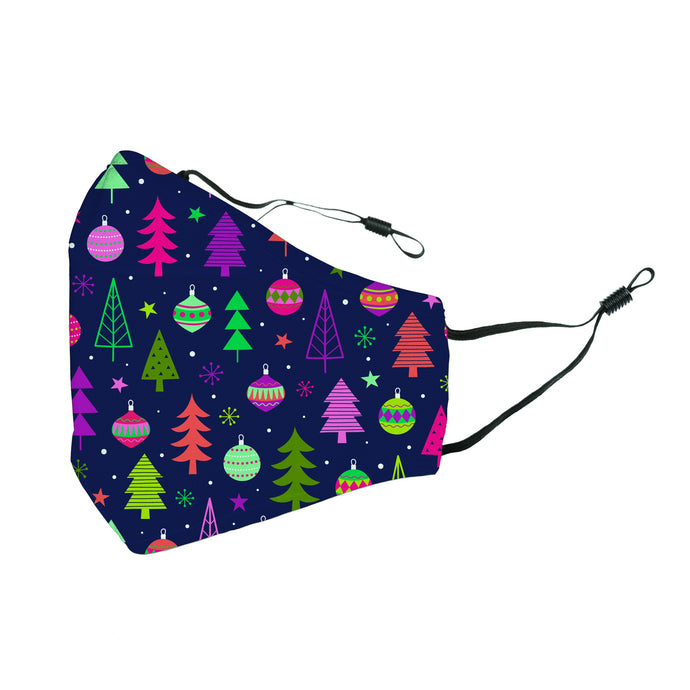 Reusable Face Cover Christmas Happy Holly-Days