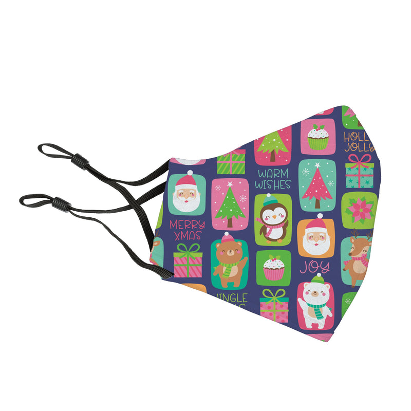 Reusable Face Cover Holly Jolly!