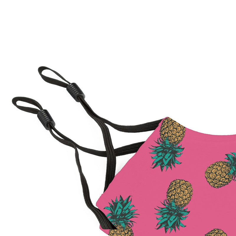 Reusable Face Cover Hot Pink Pineapple