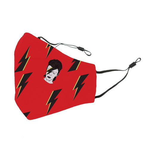Reusable Face Cover Stardust Red