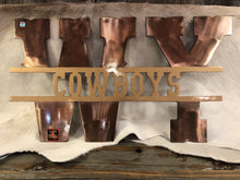 Load image into Gallery viewer, Metal WY -COWBOYS  18 gauge Sign
