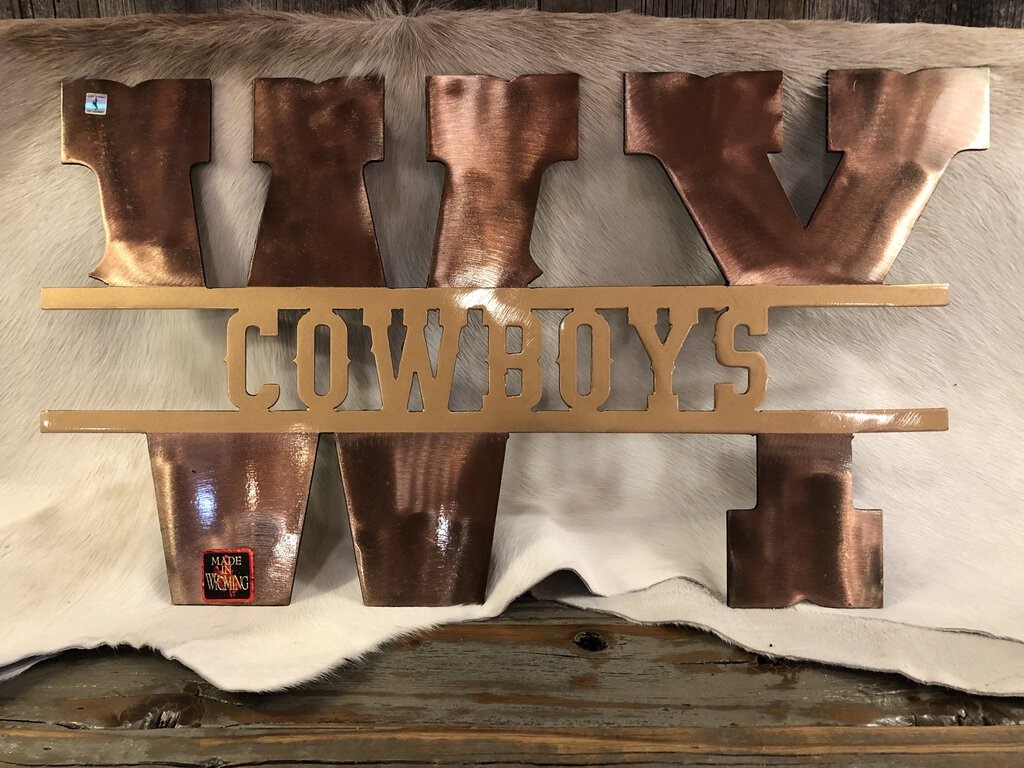 Metal WY -COWBOYS  18 gauge Sign