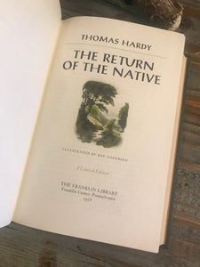 THE RETURN OF THE NATIVE - Thomas Hardy - Franklin Library Limited Edition - 1978