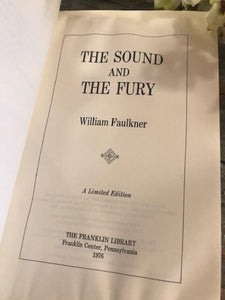 THE SOUND AND THE FURY - William Faulkner - Franklin Library Limited Edition - 1976