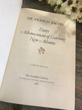 Load image into Gallery viewer, SELECTED WRITINGS - Sir Francis Bacon - Franklin Library Limited Edition - 1982