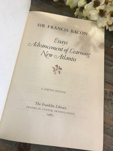 SELECTED WRITINGS - Sir Francis Bacon - Franklin Library Limited Edition - 1982