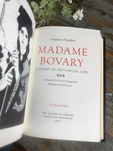 MADAME BOVARY - Gustave Flaubert - Franklin Library Limited Edition - 1978