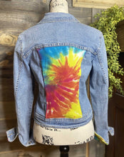Load image into Gallery viewer, Tie Dye Panel Jean Jacket