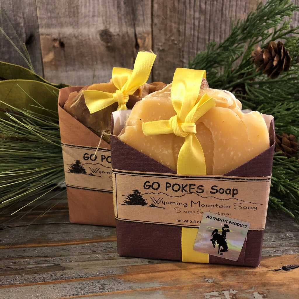 Go Pokes Soap.  Wyoming Mountain Song Soap.