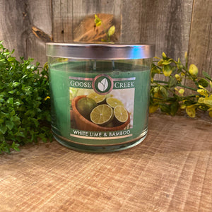 Goose Creek 3 Wick Candle White Lime & Bamboo