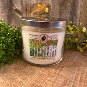 Goose Creek 3 Wick Candle White Picket Fence