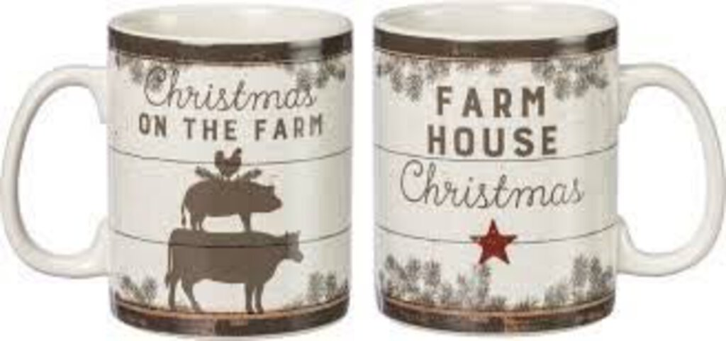 Mug Christmas on the Farm Farmhouse Christmas