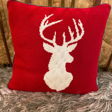 Load image into Gallery viewer, Red And White Stag Pillow