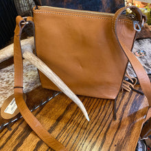 Load image into Gallery viewer, Suede/Leather Cross Body Bag w/ Fringe & 2 Zipper Gaucho